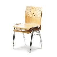 houten schaal-stapelstoel