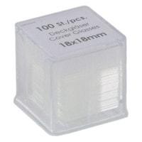 Dekglaasjes, 18 x 18 mm, 100 stuks