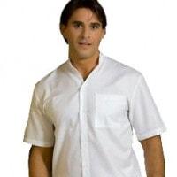 Doktersoverhemd met opstaand boordje