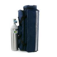 Zuurstofsysteem met lichtmetalen fles en drukregelaar