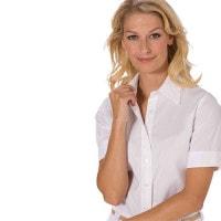 Dames blouse met korte mouw