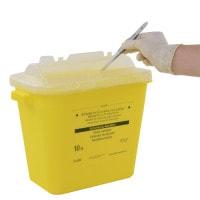 Scherp-afvalcontainer