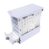 Kunststof dispenser voor tandheelkundige wattenrollen