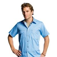 Unisex-Hemd lichtblauw
