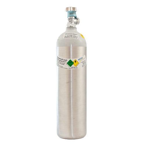 Gevulde 2l-zuurstoffles van aluminium