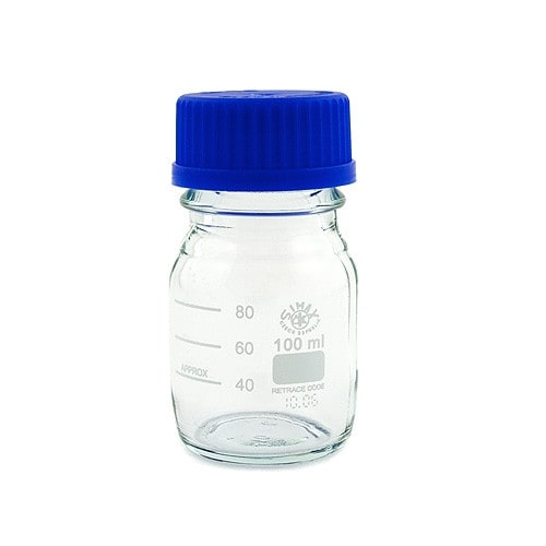 Glazen laboratoriumflessen