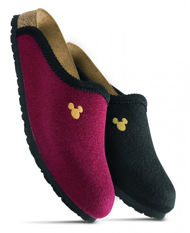 Filz Clogs «Mickey Mouse Stitch»