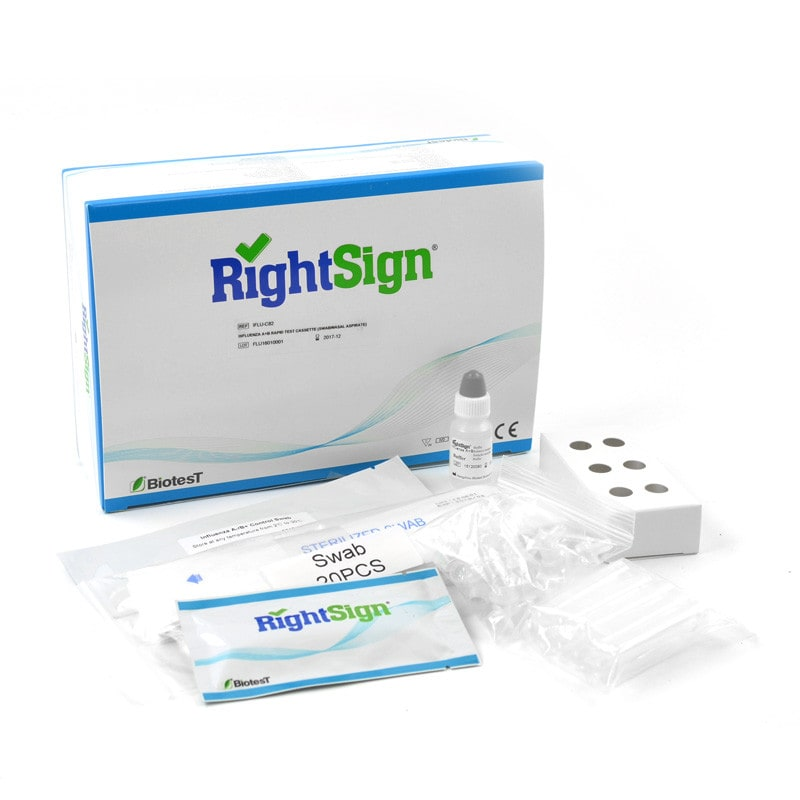 RightSign influenza A + B sneltest