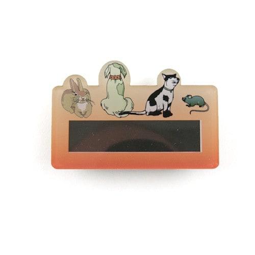 Naamplaatje 'Praktijk voor kleine dieren'