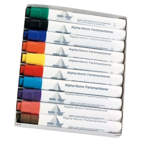 Alphanorm kleurstiften, set met 10 stiften