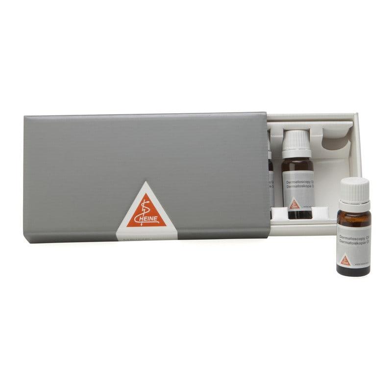 Dermatoscopie-olie, 6 flessen à 10 ml