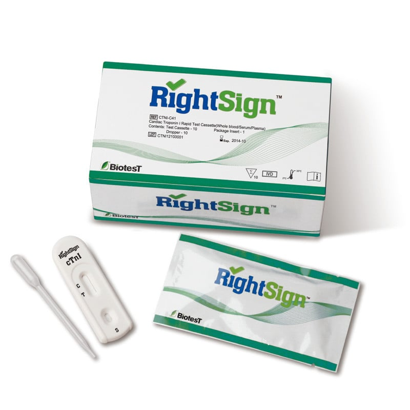 Right Sign cTnI troponine-test, 10 stuks