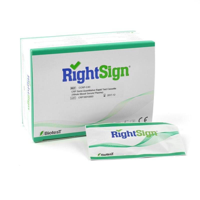 Right Sign semi-kwantitatieve CRP-test, 25 stuks