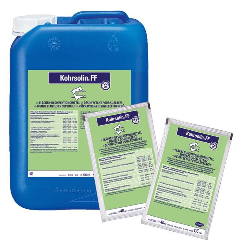 Kohrsolin FF, oppervlakken desinfectie