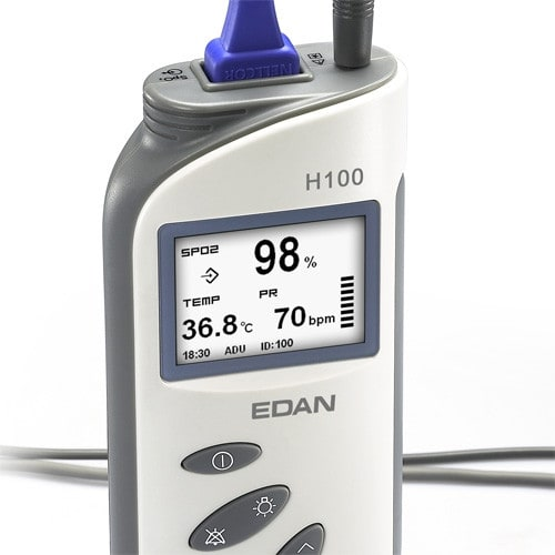 Draagbare Pulsoximeter H100N met Temperatuursonde