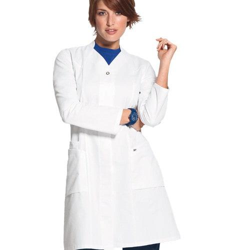 Dames doktersjas met opstaande kraag