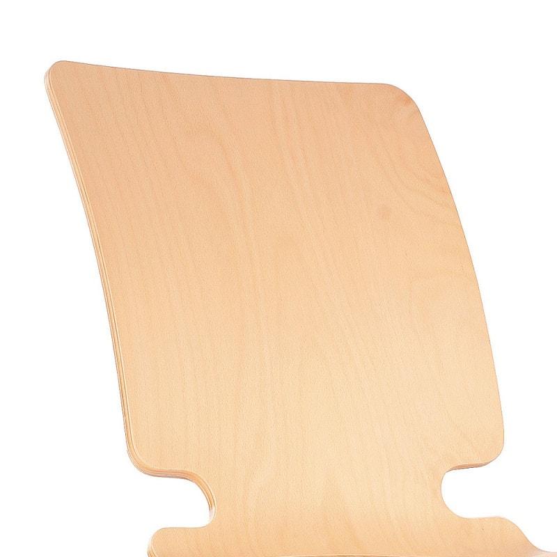 Houten stapelstoel