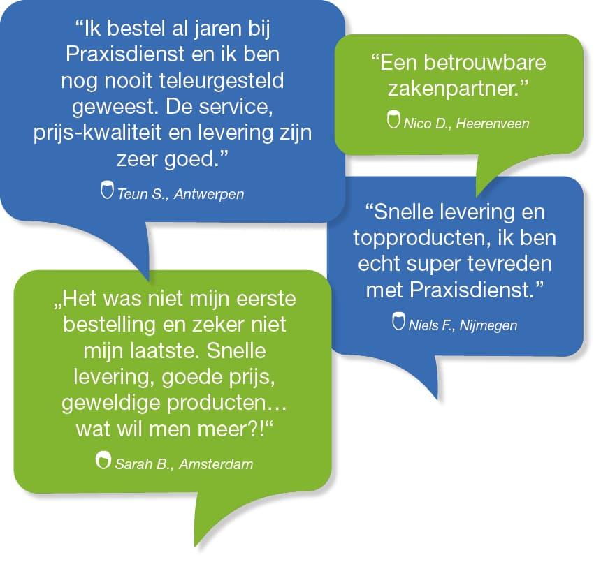 Praxisdienst Wat onze klanten zeggen