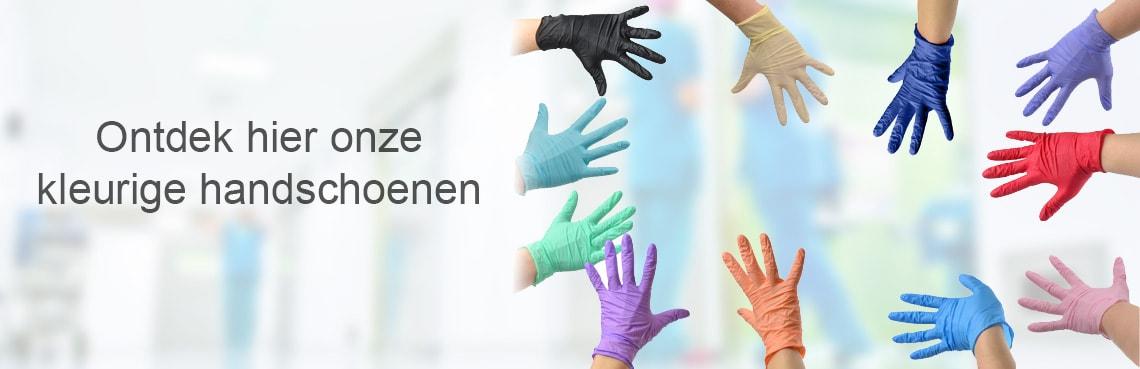 kleurige handschoenen
