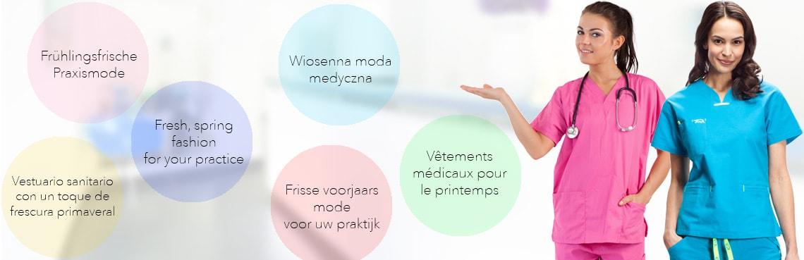 Frisse voorjaars mode voor uw praktijk